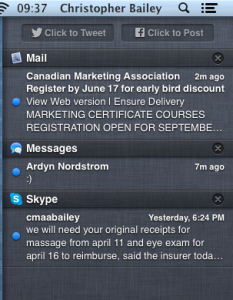 I find myself checking my Mac for notifications much more often now that I don't have a phone.