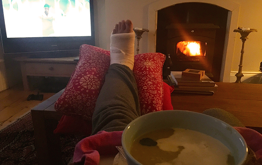 Huge props to my Airbnb hosts and my buddy Harry Guinness for taking care of me after my injury. The people in Ireland are incredible.