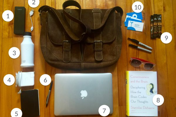 The 10 indispensable things I keep in my laptop bag at all times