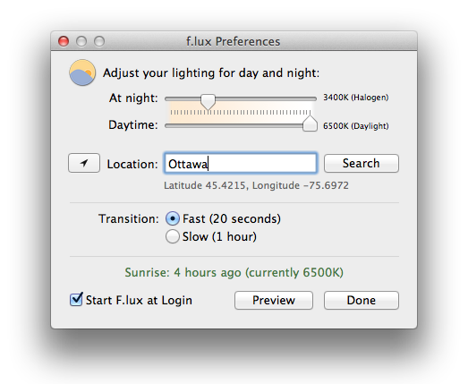 F.lux – the must-have, free application that will make you sleep better