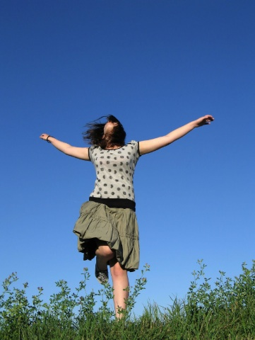 Yes, Dear Reader, you too can retire and then frolic in a field just like the lady pictured above!