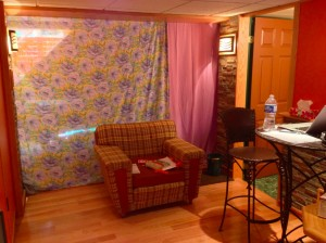 My main living quarters for the week (plus a futon). Click for a larger image!
