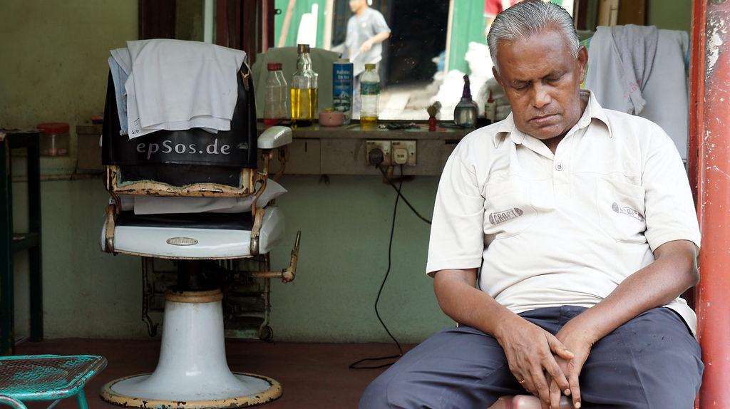 Man taking a siesta